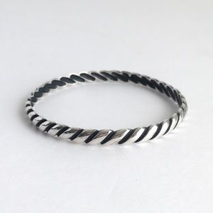 James Avery Retired Twisted Rope Bangle Bracelet
